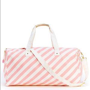 Ban.do Pink Stripe Weekender Duffle Bag